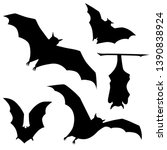 vector black silhouette of... | Shutterstock .eps vector #1390838924