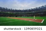 grand cricket stadium with... | Shutterstock . vector #1390859321