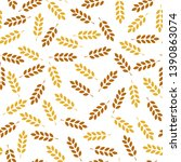 Wheat Seamless Pattern. Vector...