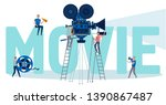 making movie  video production...   Shutterstock .eps vector #1390867487