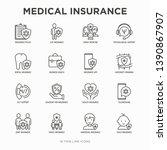 medical insurance thin line... | Shutterstock .eps vector #1390867907