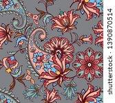 fantastic floral seamless... | Shutterstock .eps vector #1390870514