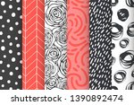 abstract hand drawn geometric... | Shutterstock .eps vector #1390892474