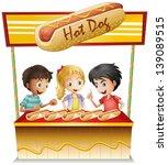 Illustration Of The Three Kids...