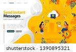 send instant messages  send...   Shutterstock .eps vector #1390895321