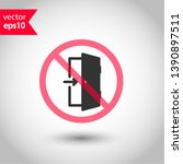 prohibited exit vector icon. no ... | Shutterstock .eps vector #1390897511