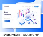 landing page template of data... | Shutterstock .eps vector #1390897784