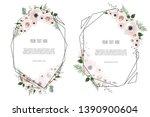 floral botanical card design... | Shutterstock . vector #1390900604