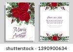 vector template for wedding...   Shutterstock .eps vector #1390900634