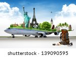 travel the world by airplane ... | Shutterstock . vector #139090595