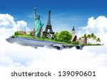 travel the world by airplane ... | Shutterstock . vector #139090601
