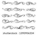 set of elegant decorative... | Shutterstock .eps vector #1390906334