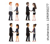 group of business working... | Shutterstock .eps vector #1390930277