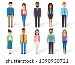group of working people... | Shutterstock .eps vector #1390930721