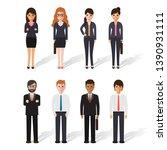 group of working people... | Shutterstock .eps vector #1390931111