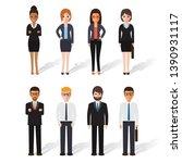 group of working people...   Shutterstock .eps vector #1390931117