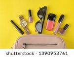 stylish fashionable pink bag... | Shutterstock . vector #1390953761
