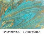 blue marbling pattern. golden... | Shutterstock . vector #1390960064
