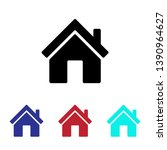 home icon vector  house sign | Shutterstock .eps vector #1390964627