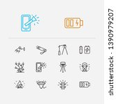 energy icons set. street lamp...