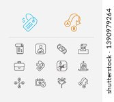 customer service icons set....