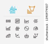 finance trading icons set....