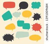 speech frames. speak kids... | Shutterstock .eps vector #1391009684