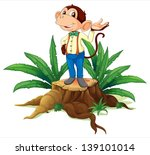 illustration of a stump with a... | Shutterstock .eps vector #139101014