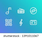 melody icon set and storage...