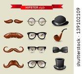 12 highly detailed hipster... | Shutterstock .eps vector #139102109