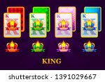 set of the four suits of king...