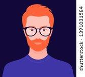 portrait of a handsome guy.... | Shutterstock .eps vector #1391031584