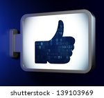 social media concept  like on... | Shutterstock . vector #139103969