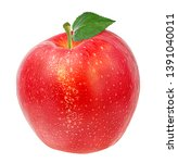 fresh red apple isolated on... | Shutterstock . vector #1391040011