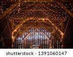 Indoor Barn Wedding With...