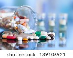 colorful tablets with capsules... | Shutterstock . vector #139106921