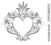 sacred heart of jesus....   Shutterstock .eps vector #1391086631