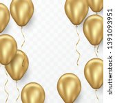 gold 3d balloon design for... | Shutterstock .eps vector #1391093951