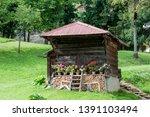 vintage wooden barn in the... | Shutterstock . vector #1391103494