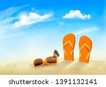 summer vacation background.... | Shutterstock .eps vector #1391132141