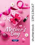 happy mother's day sale poster... | Shutterstock .eps vector #1391136167