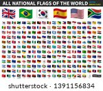 all national flags of the world ... | Shutterstock .eps vector #1391156834