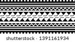 tribal pattern tattoo ... | Shutterstock .eps vector #1391161934