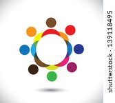 abstract colorful people... | Shutterstock .eps vector #139118495