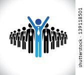 concept of winner executive ... | Shutterstock .eps vector #139118501