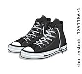 vector cartoon black gumshoes