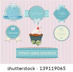 vintage labels and invitations  ... | Shutterstock .eps vector #139119065