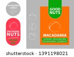 macadamia nuts colorful labels. ... | Shutterstock .eps vector #1391198021
