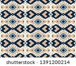 ikat geometric folklore... | Shutterstock .eps vector #1391200214