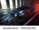 sports car drives through... | Shutterstock . vector #1391201501